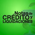 Notas de Crédito y Liquidaciones