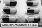 Medicamentos dados de Baja