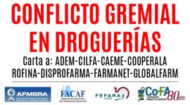 Carta de las organizaciones farmacéuticas a: ADEM-CILFA-CAEME-COOPERALA ROFINA-DISPROFARMA-FARMANET-GLOBALFARM