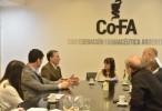 El vicepresidente del PJ Bonaerense visitó la COFA y prometió defender el modelo sanitario de farmacia