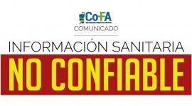 Comunicado de la Confederación Farmacéutica Argentina
