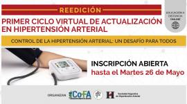 Reedición del Primer Ciclo Virtual de Actualización en Hipertensión Arterial