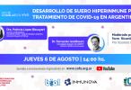 Desarrollo de suero hiperinmune para tratamiento de COVID-19 en Argentina